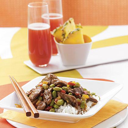 Edamame and Steak Stir-Fry