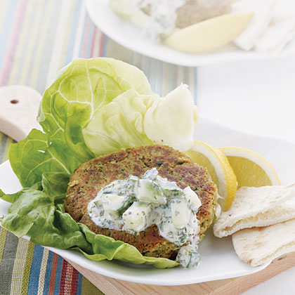 Falafel Patties with Tzatziki
