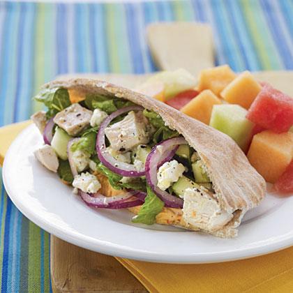 Greek Chicken Salad Pitas