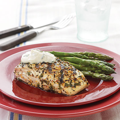 Grilled Amberjack with Country-Style Dijon Cream Sauce Recipe
