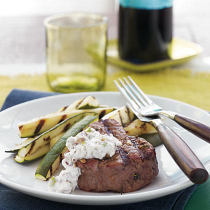 Grilled Beef Tenderloin & Horseradish-Walnut Sauce Recipe ...