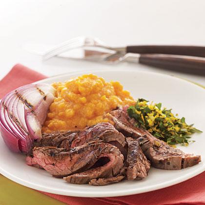 Grilled Flank Steak with Balsamic Glaze and Orange Gremolata