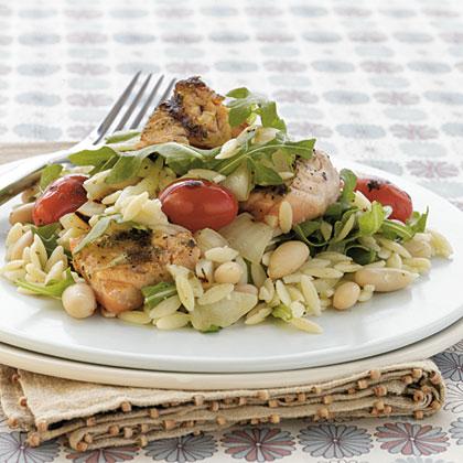 Grilled Pesto Salmon—Orzo Salad