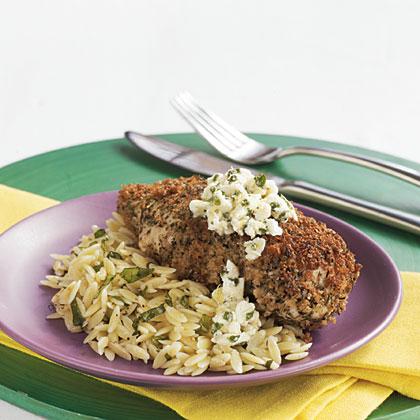 Herb-Crusted Chicken with Feta Sauce Recipe