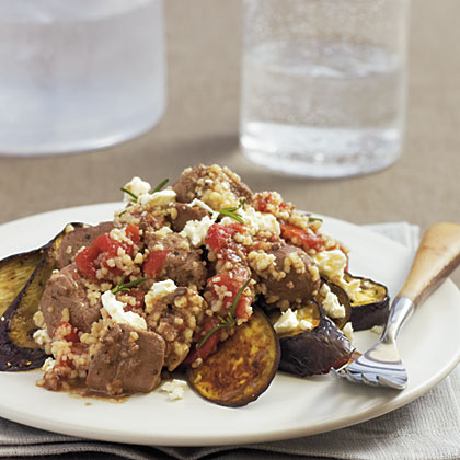 Lamb with Couscous and Roasted Eggplant Recipe