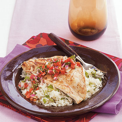 Pan-Seared Grouper with Sweet Ginger Relish Recipe