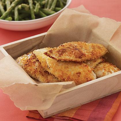 Panko Pan-Fried Fish StripsRecipe