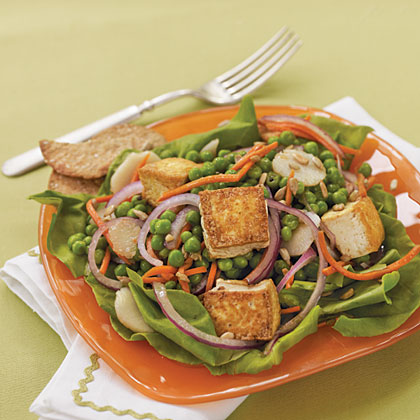 Pea, Carrot, and Tofu SaladRecipe