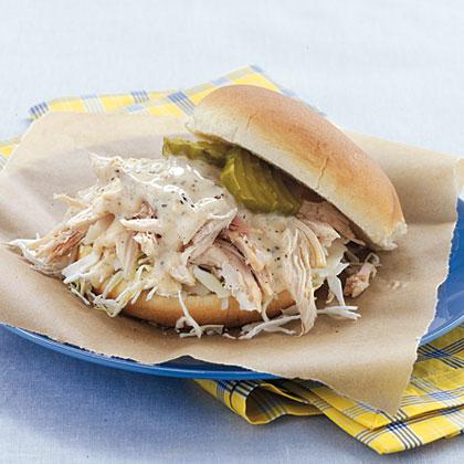 Pulled Chicken Sandwiches Amp White Barbecue Sauce Recipe 3 Myrecipes
