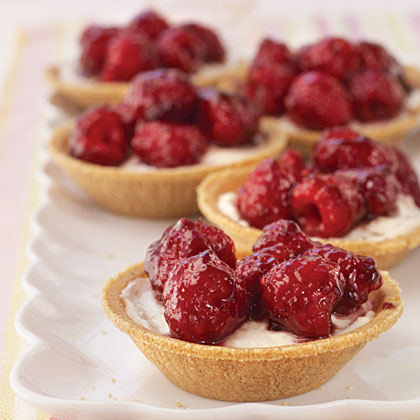Raspberry-Cream Cheese Tarts Recipe | MyRecipes.com