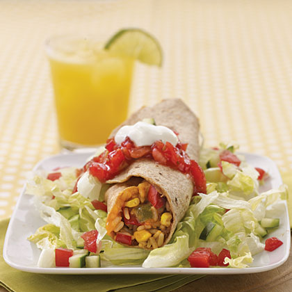 Refried Beans and Rice BurritosRecipe