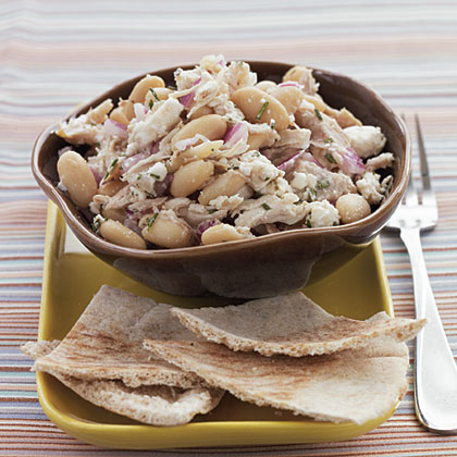 Roasted Chicken and White Beans with Greek Dressing