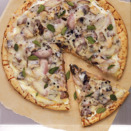Roasted Mushroom and Shallot PizzaRecipe