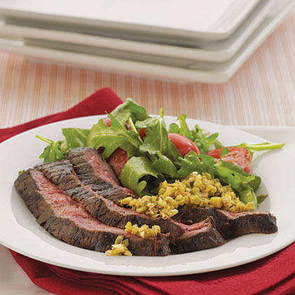 Skirt Steak with Green Olive TapenadeRecipe