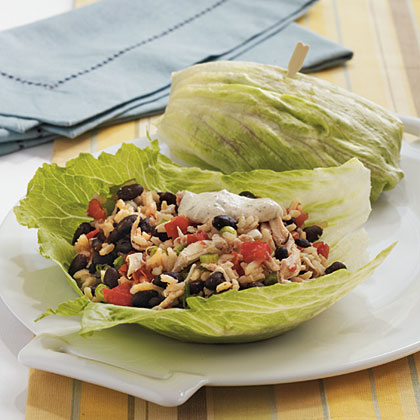 Southwestern Chicken Lettuce Wraps with Spicy Chipotle Dipping Sauce Recipe