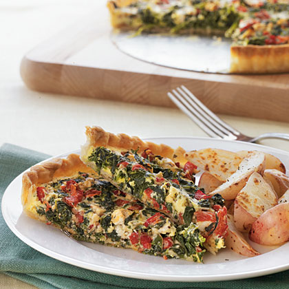 Spinach and Roasted Red Pepper Tart Recipe