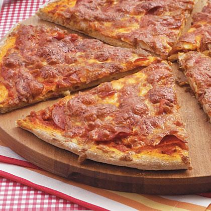 Whole-Wheat Pepperoni Pizza