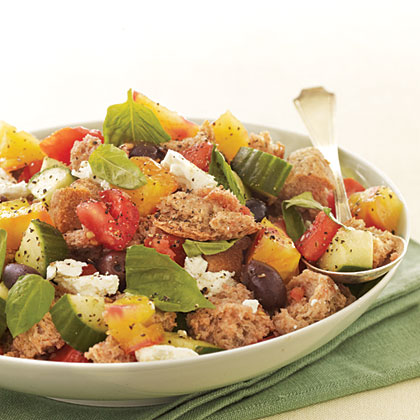Whole Wheat Mediterranean Panzanella