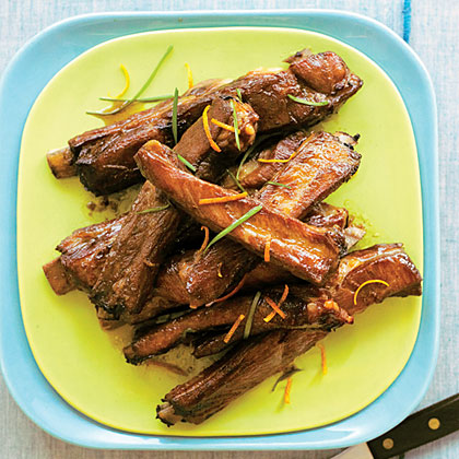 Roasted Pork Spareribs with Citrus-Soy Sauce Recipe