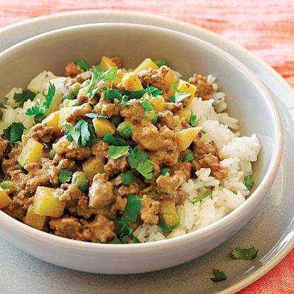 Lamb Keema with Potatoes and Peas Recipe | MyRecipes