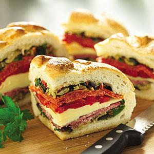 Italian Stuffed Sandwich Wedges
