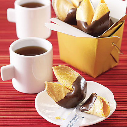 Chocolate-Dipped Fortune Cookies Recipe