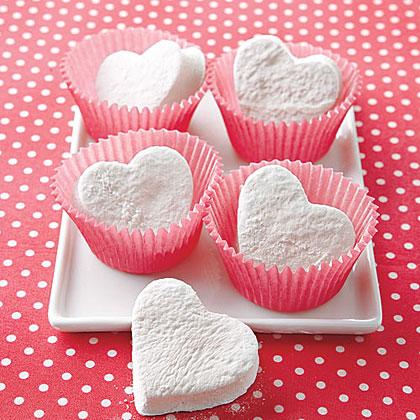 <p>Heart-Shaped Marshmallows</p>