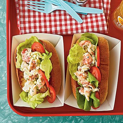 Low-Fat Lobster RollsRecipe