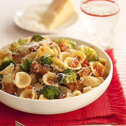 Orecchiette with Broccoli, Tomatoes and Sausage