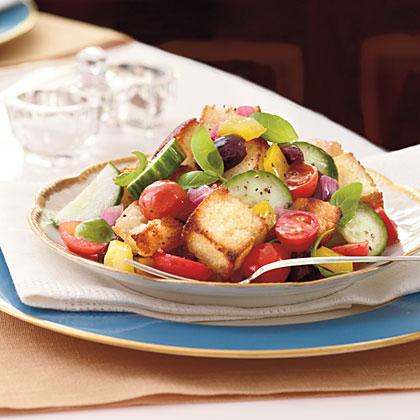 Panzanella Salad with Cornbread Croutons