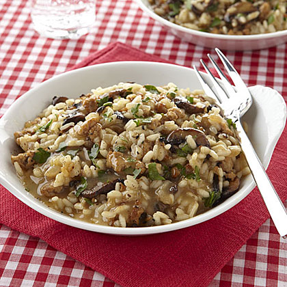 Baked Sausage and Mushroom Risotto