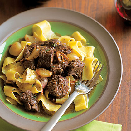 Beef Daube with Shallots and Dried PorciniRecipe