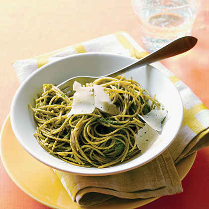 Swiss Chard Pesto Pasta Recipe | MyRecipes