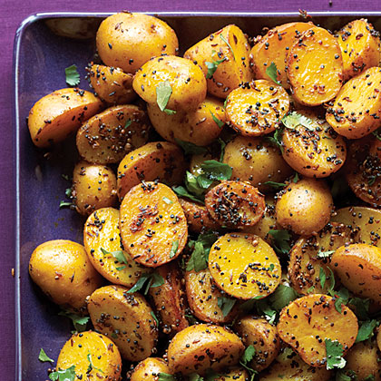 Indian Potatoes with Black and Yellow Mustard Seeds