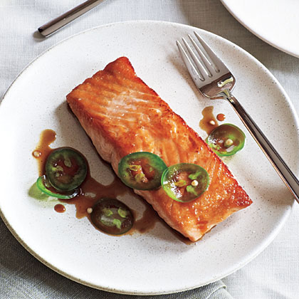 Seared Salmon with Jalapeño Ponzu Recipe