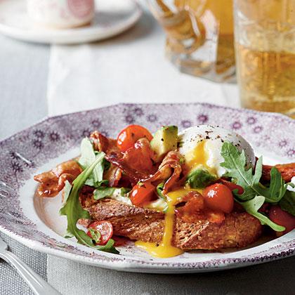 BLT Benedict with Avocado-Tomato Relish