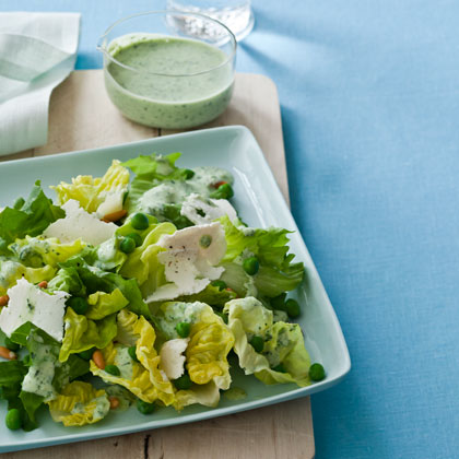 <p>Butter Lettuce and Escarole Salad with Green Goddess Dressing</p>