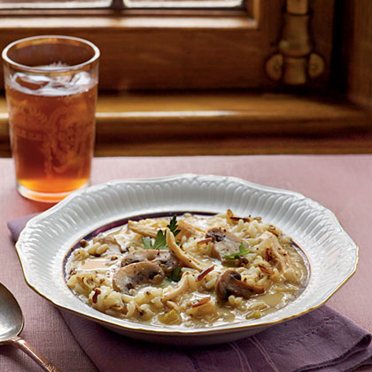 Chicken, Mushroom, and Wild Rice Soup Recipe