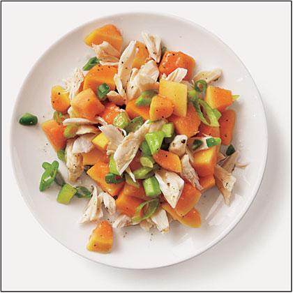 Spicy Crab-Papaya Salad Recipe