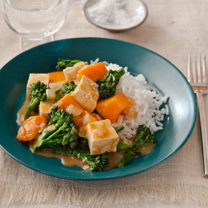 <p>Gingery Butternut Squash and Tofu Curry</p>