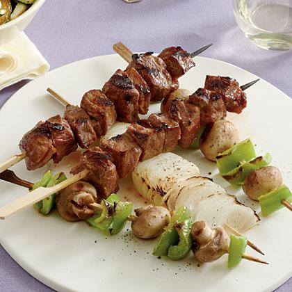 Grilled Steak and Vegetable KabobsRecipe