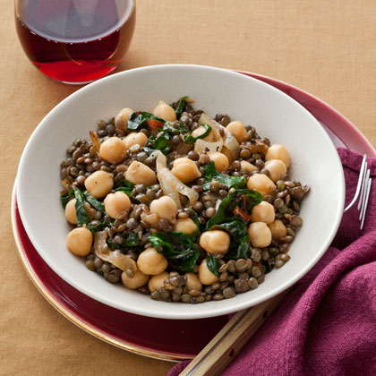 <p>Lentil and Chickpea Salad</p>