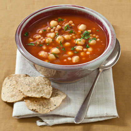 <p>Pancetta and Chickpea Soup</p>