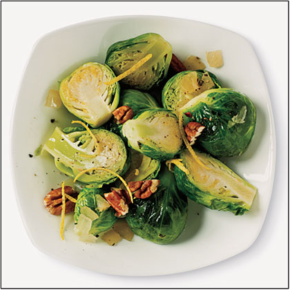 Sautéed Brussels Sprouts with Lemon and Pecan Recipe