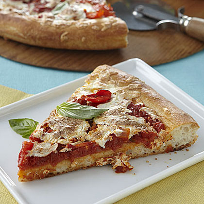 Pizza with Fresh Tomatoes and Basil Recipe