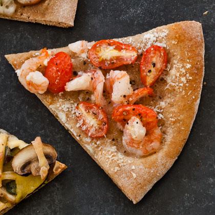 Shrimp and Garlic Pizza