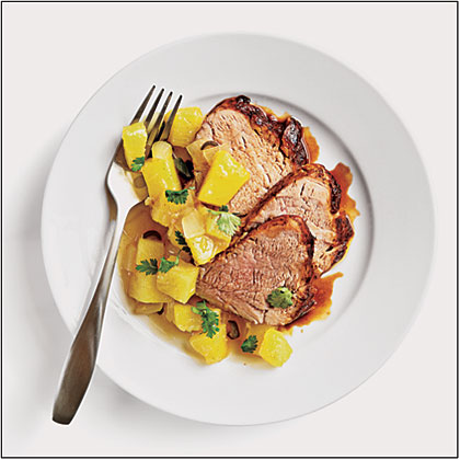Tamarind Pork with Pineapple-Ginger Chutney