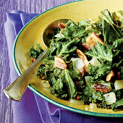 Wilted Kale with Bacon