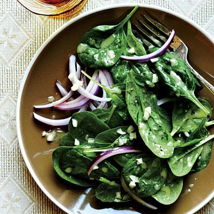 Spinach with Garlic Vinaigrette
