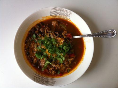 Healthy Turkey Mole Soup